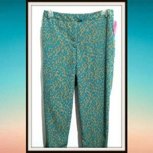 Women Dress Trouser Pants Size 13 Animal Print